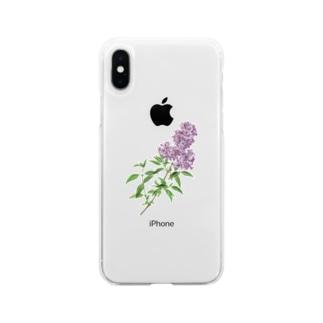 ペルシアン ライラック iPhoneケース Soft clear smartphone cases