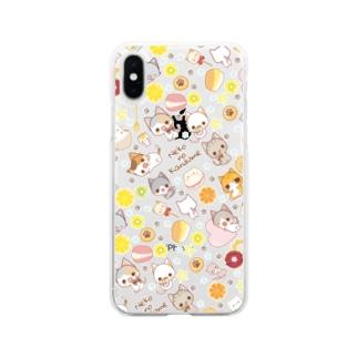 にゃんことフルーツとスイーツ Soft clear smartphone cases