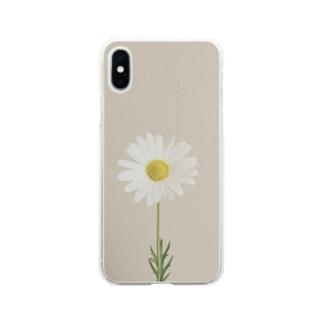 マーガレット Soft clear smartphone cases