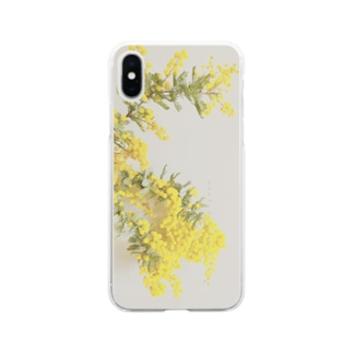 sakura f studioのミモザ Soft clear smartphone cases