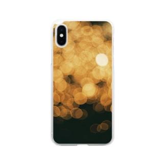 【玉ボケ花火】iPhoneケース Soft clear smartphone cases