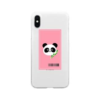 パンダの侵略 Soft clear smartphone cases