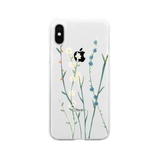 こっそりしろくま(緑) Soft Clear Smartphone Case