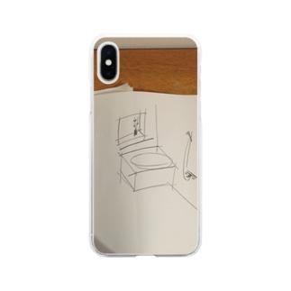 ラフスケッチの風呂 Soft clear smartphone cases