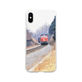 日本の鉄道:冬の八高線 Japanese rail: Cargo train at Hachiko-sen  Soft clear smartphone cases