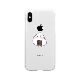 おにぎりくん! Soft clear smartphone cases