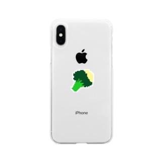 ぶろこりー Soft clear smartphone cases