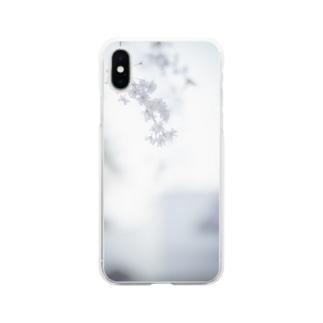 桜フォト Soft clear smartphone cases