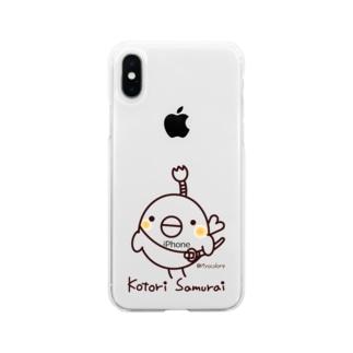 コトリ侍 Soft clear smartphone cases