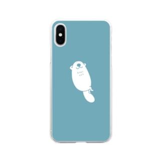 らっこ Soft clear smartphone cases
