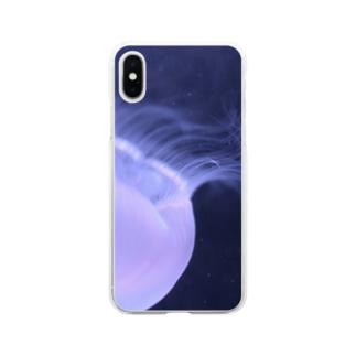 くらげ『深淵』 Soft clear smartphone cases