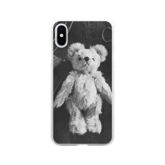 テディベア【tools】 Soft clear smartphone cases