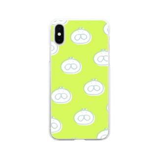ねこタイツ ドット Soft clear smartphone cases