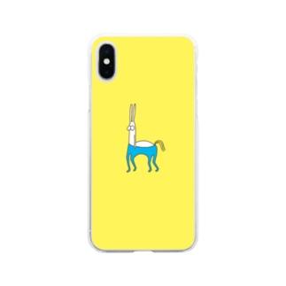 うさぎタイツ ケンタウロス Soft clear smartphone cases