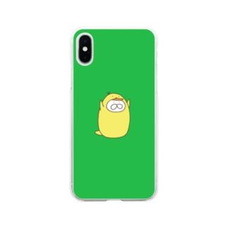 ねこタイツ ぴよ Soft clear smartphone cases
