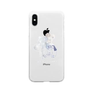 ココシバ×MegumiOno Soft clear smartphone cases