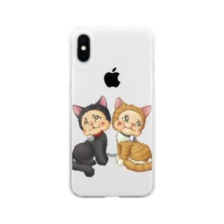 ラバードール猫風 Soft clear smartphone cases