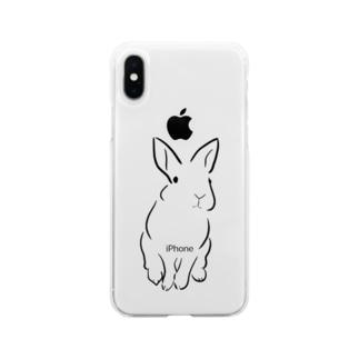 うさぎ Soft clear smartphone cases