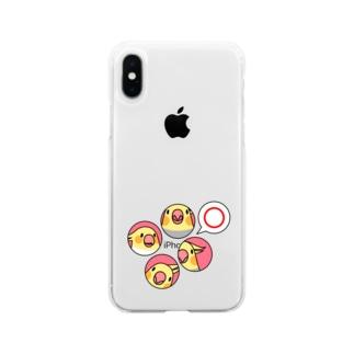 オカメインコまる〇【まめるりはことり】 Soft clear smartphone cases