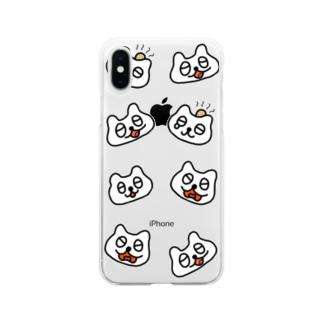 ねこちゃんズ Soft clear smartphone cases