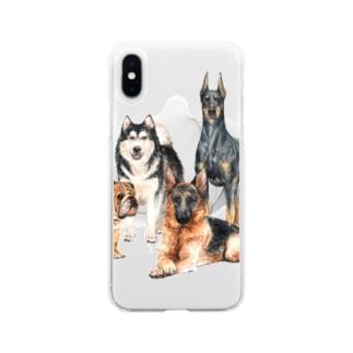 ちょっぴり強面の大きい犬たち。 Soft clear smartphone cases