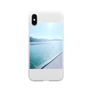 あの海へ Soft clear smartphone cases