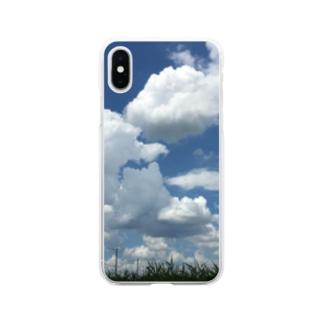 夏空 Soft clear smartphone cases