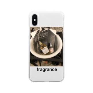 おしゃれfragrance Soft clear smartphone cases