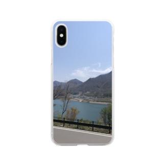 ダム Soft clear smartphone cases
