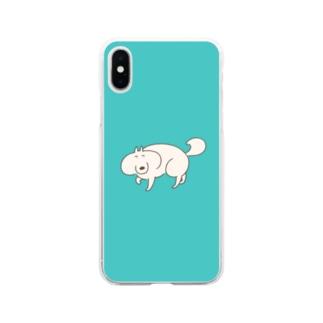 いぬまゆげの散歩 Soft clear smartphone cases
