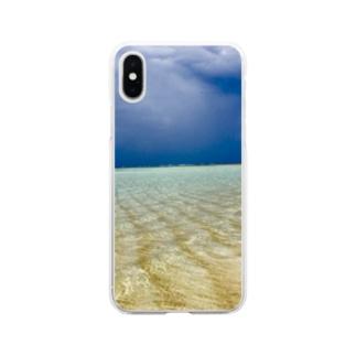ビーチ Soft clear smartphone cases