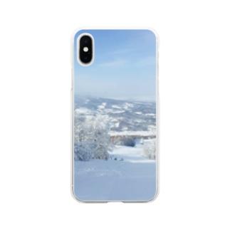 樹氷とともに Soft clear smartphone cases