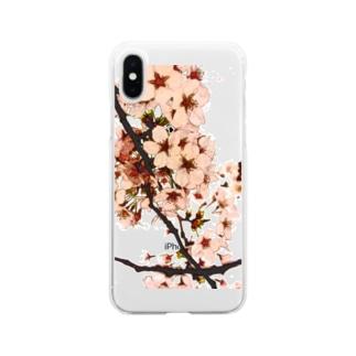サクライラスト2 Soft clear smartphone cases