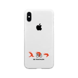 エビトライアスロン Soft clear smartphone cases