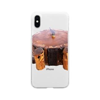 お昼寝中 Soft clear smartphone cases
