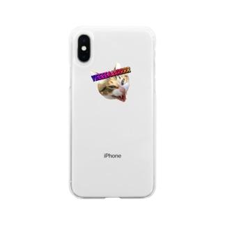 縞三毛猫きいの発狂YEAR Soft clear smartphone cases