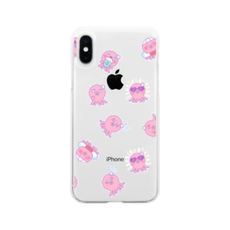 夏で密なタコちゃん Soft clear smartphone cases