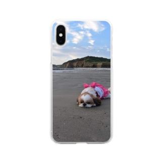 心ちゃんグッズ Soft clear smartphone cases