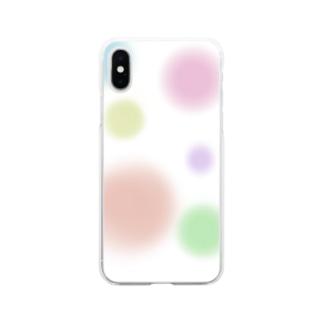 パステルカラーシャボン玉(縁なし) Soft clear smartphone cases