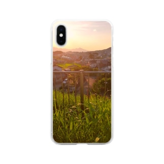 夕暮れの風景 Soft clear smartphone cases