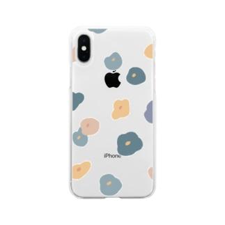 su_na_me_riのポピー Soft clear smartphone cases