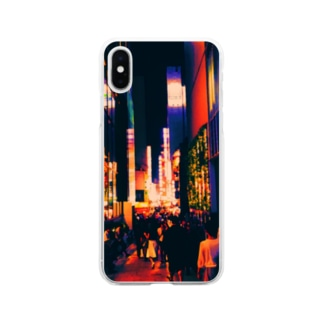 colorful Shinjuku Soft clear smartphone cases