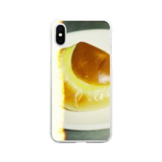 クリームパンたべたい Soft clear smartphone cases