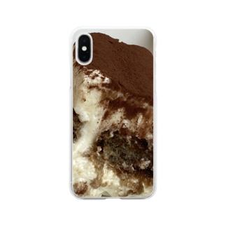 神戸英雄斗のティラMs.食べたい Soft clear smartphone cases