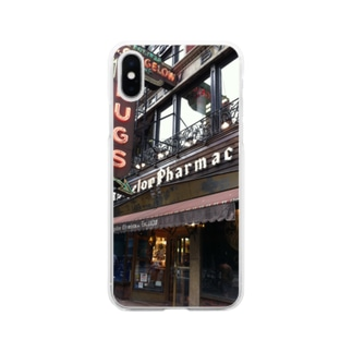 NYCドラッグストア Soft clear smartphone cases