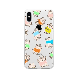 しろくまだらけ Soft clear smartphone cases