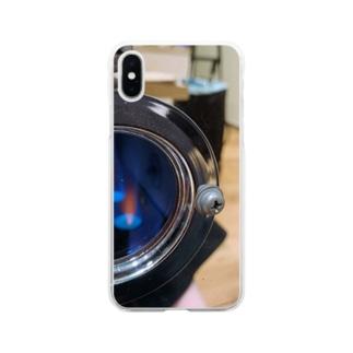 焙煎機1 Soft clear smartphone cases
