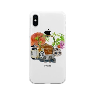 文福茶釜 Soft clear smartphone cases
