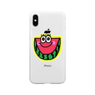 スイカくん🍉💗 Soft clear smartphone cases