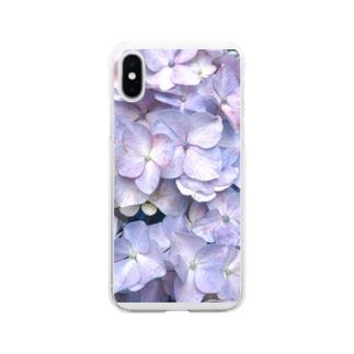 紫陽花の花言葉は移り気 Soft clear smartphone cases